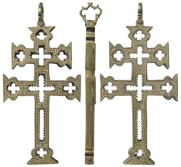 Cruz de Caravaca Relicario, S.XVII - CC106 GN6zbG