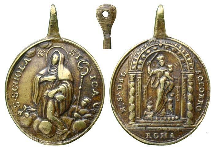 Santa Escolástica / Nuestra Señora del Socorro - MR490 (R.M. SXVIII-O306) JeDcgF