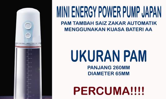 Mini Energy Power Pump | Pam Automatik Untuk Tambah Saiz Zak NRklMN