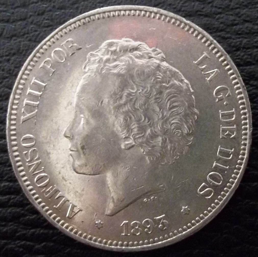 5 pesetas 1893. Alfonso XIII. REVERSO12 Dedit - Página 3 XHnnce