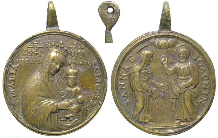 Virgen de la Carta / Santa Ana y San Joaquín - MR532 (R.M. SXVIII-O124)(MAM) 5APuDm