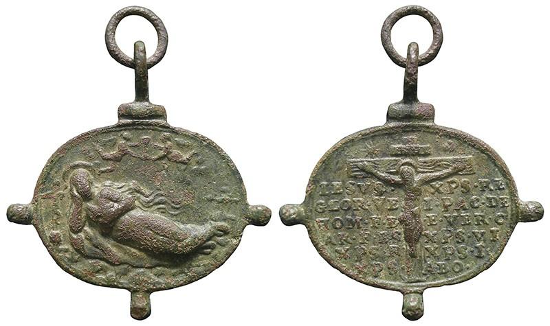 Santa María Magdalena / Jesucristo crucificado y oración - MR822 F2HNYR