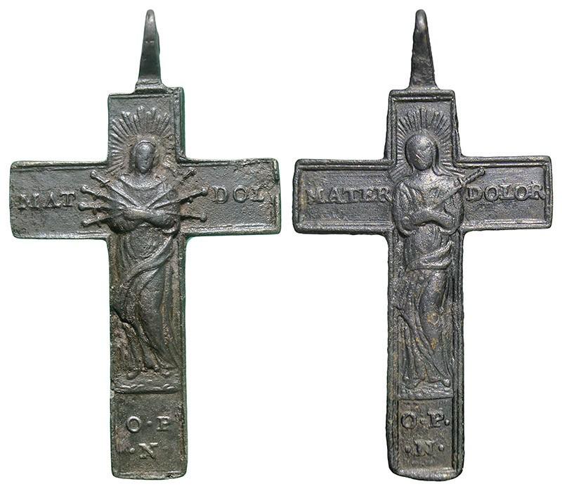 Crucifijo bifaz - CC125  FLRJNI