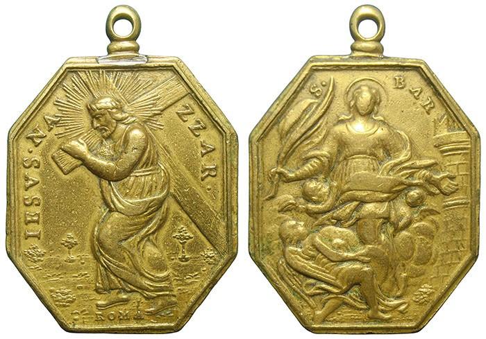 Jesús con la cruz a cuestas / Santa Bárbara - MR730 (R.M. SXVIII-P118) QLlWHh
