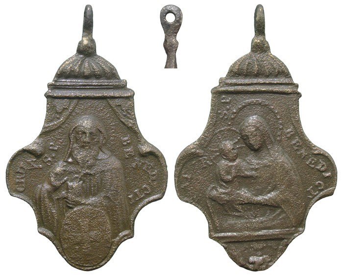 San Benito de Nursia / Virgen de la Misericordia (Piscinula)- MR607 (R.M.SXVIII-Ot 20)(MAM) QQsehb