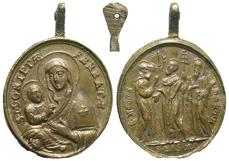 Santa Maria de Grottaferrata / Santos Basilio, Nilo y Bartolomé - MR764 (R.M. SXVIII-O472) (AM) EHzObf