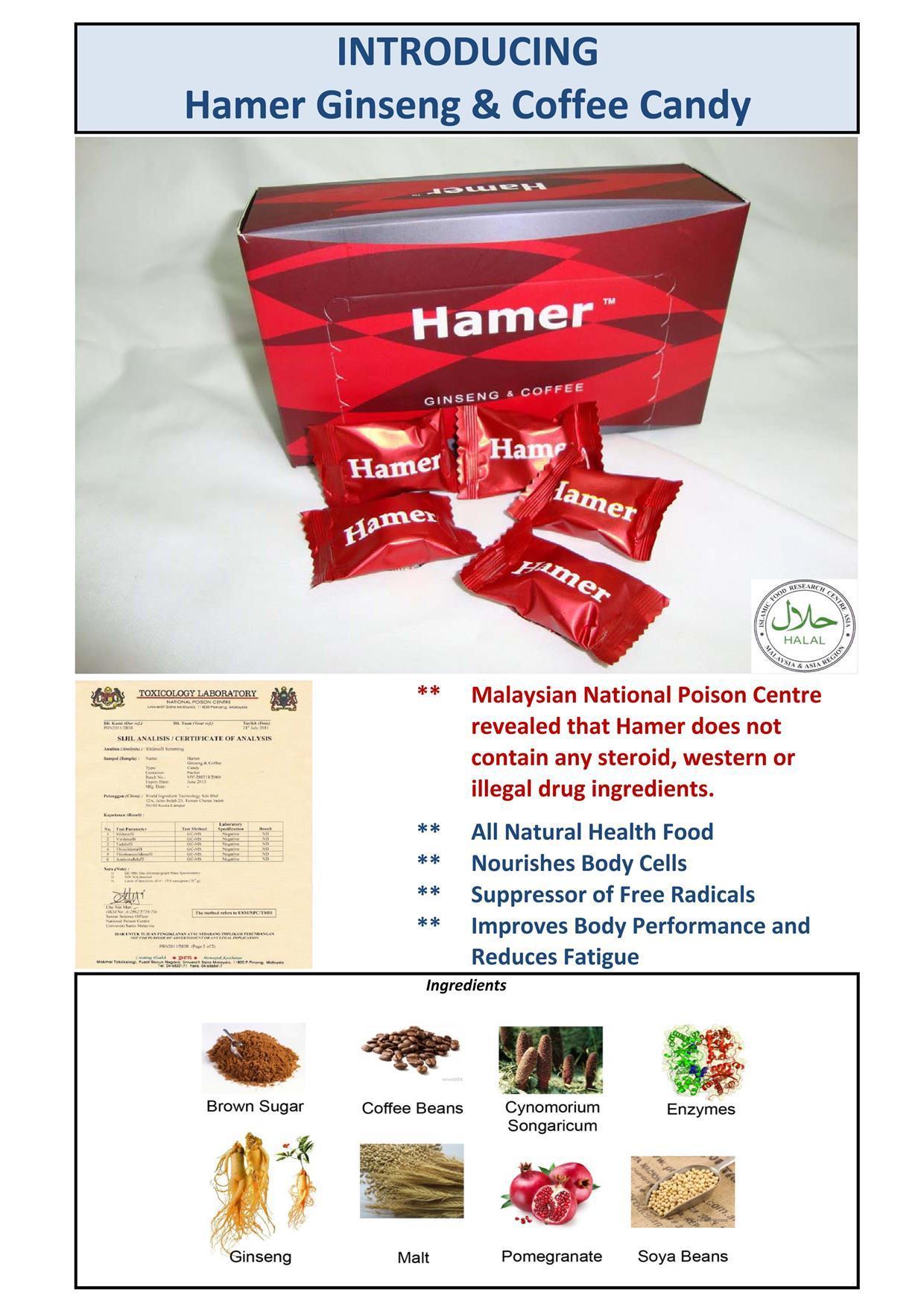 Hamer Ginseng Coffee Candy | RM150 30 PCS Fn6ka0