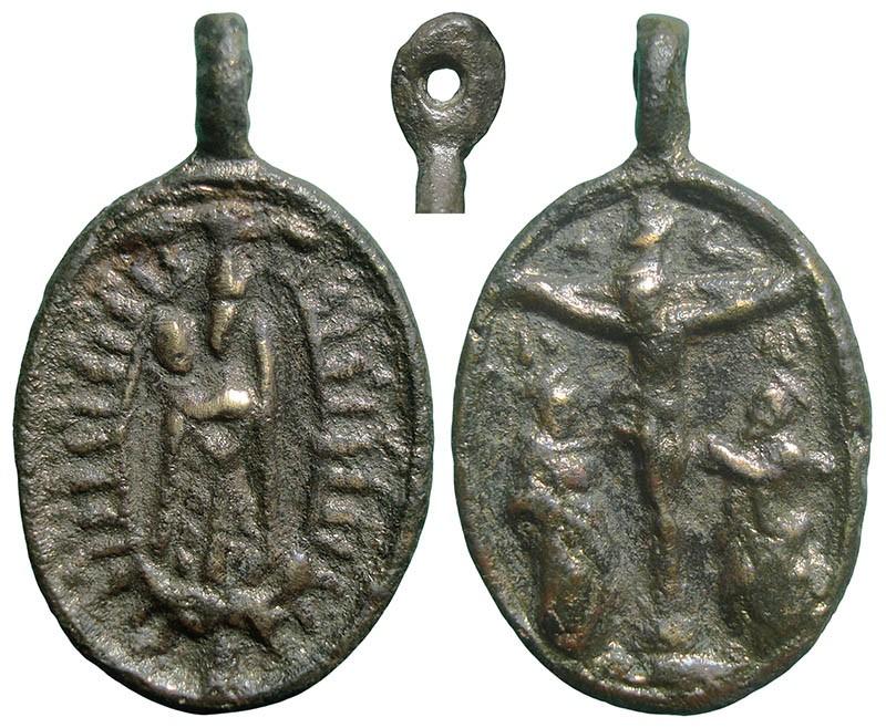 Virgen con Niño / Crucifixión, S. XVIII ( a identificar) MwFPei
