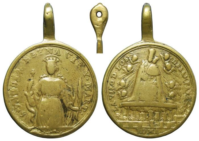Santa Orosia  / Virgen de los Desamparados - MR681 (R.M. SXVIII-C173) 1q58cx