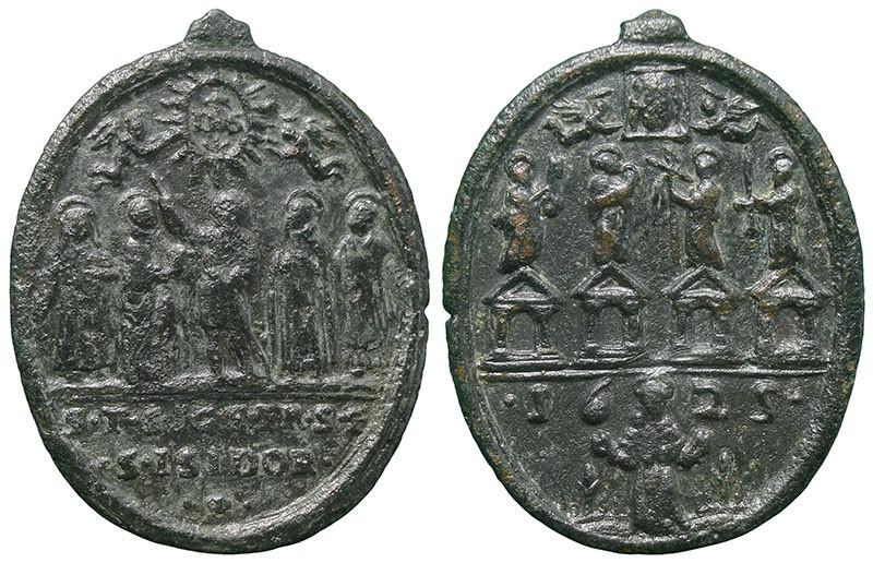 Jubileo de 1625: Cinco Santos / Cuatro Basílicas romanas, S.XVII - MR761 2bfdRe