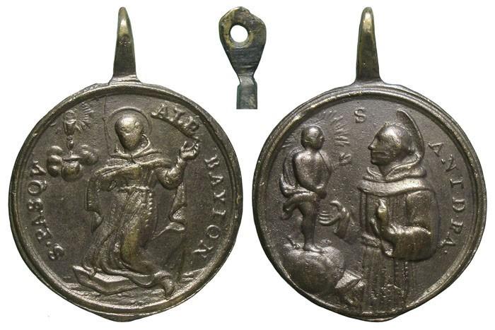 San Pascual Bailón / San Antonio de Padua - MR563 (R.M. SXVIII-C138) 5MU6y7