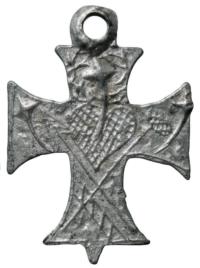 Cruz con pezuelo triangular - CC110  5mmPek