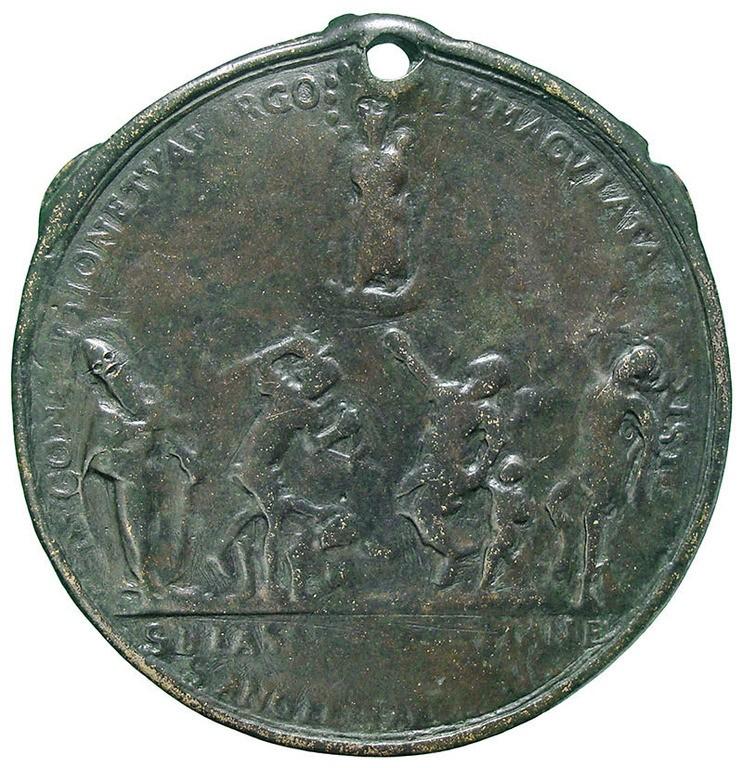 Jubileo de 1675 – Inmaculada Concepción  y varios santos / Jesucristo crucificado y las Cuatro Basílicas de Roma - MR820  6o7pF4