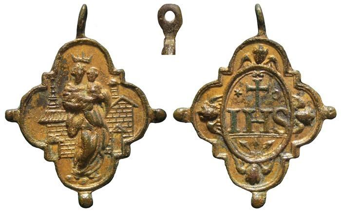 Virgen de Loreto / IHS - Nomina Sacra - MR611 (SXVII-Ot 84) (Pe Loreto 45) CZSPLE