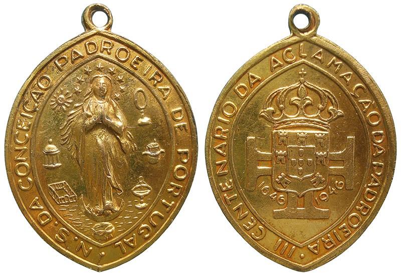 Inmaculada Concepción / Escudo monárquico portugués - DI042.M MJF1Wn