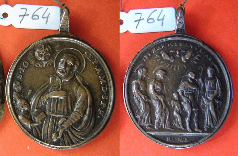 San José de Calasanz / Sagrada Familia con san Joaquín y Santa Anna, s. XVIII Mq9Yv0