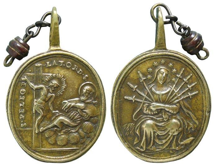 San Peregrino Laziosi / Virgen Dolorosa Siete Espadas– MR(177)- (R.M. SXVIII-356) SmHOaG