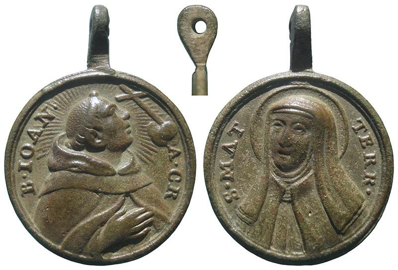 Beato Juan de la Cruz / Santa Teresa de Jesús - MR758 (R.M. SXVIII-C189) TdBMY5