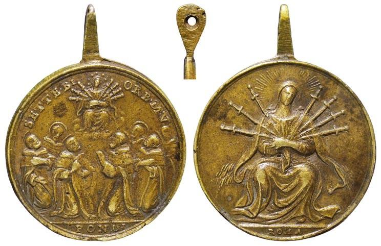 medalla siete santos que fundaron los servitas de Marie TsuXNM