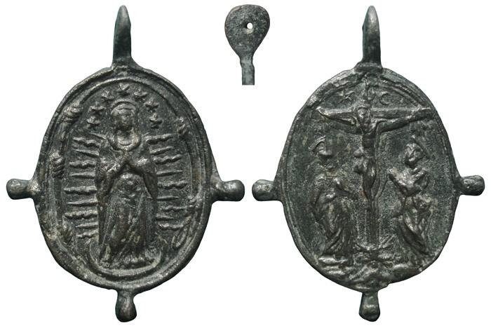 Inmaculada Concepción / Crucifixión de Jesús - MR688 (R.M. SXVII-O509) TVJJPB