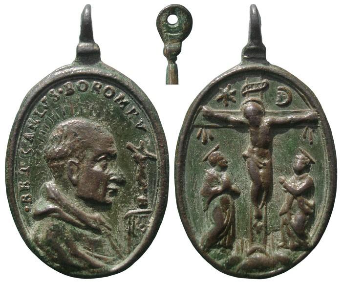 Beato Carlos Borromeo / Crucifixión de Jesús - MR650 (R.M. SXVII-O497) WgnAAT