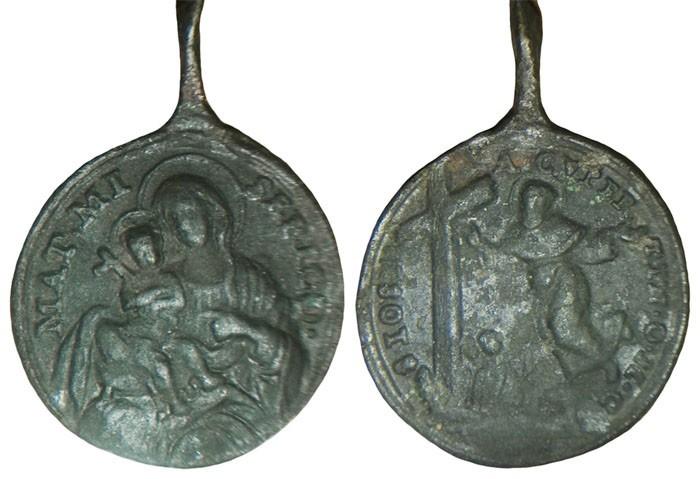 San Jose de Cupertino / Virgen de la Misericordia S. XVIII 3rROfK