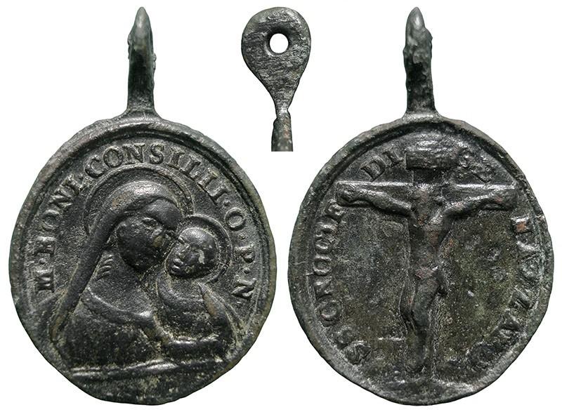Virgen del Buen Consejo / Jesucristo crucificado - MR802  (R.M. SXVIII-O481) EFadU9