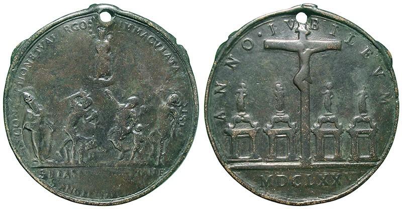 Jubileo de 1675 – Inmaculada Concepción  y varios santos / Jesucristo crucificado y las Cuatro Basílicas de Roma - MR820  EIpCkz