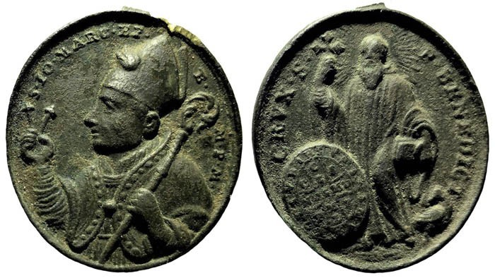 Medalla de San Juan Marcos  / S. Benito - s. XVIII P1H3p8