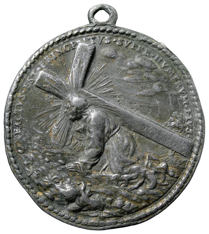 Jesús con la cruz a cuestas Qjy89l