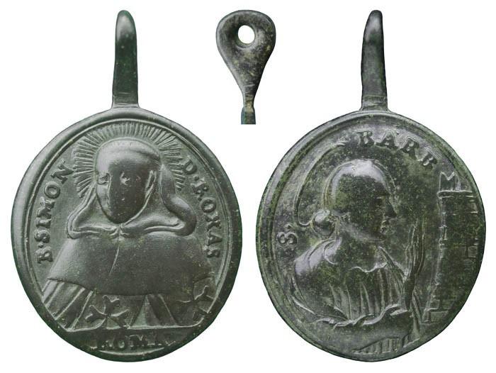 Beato Simón de Rojas / Santa Barbara - MR(293) Hnktns