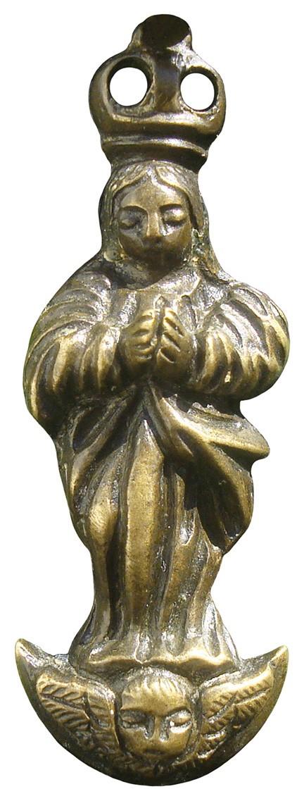 Crucifijo grande de madera y bronce - OO046 LXqTEt