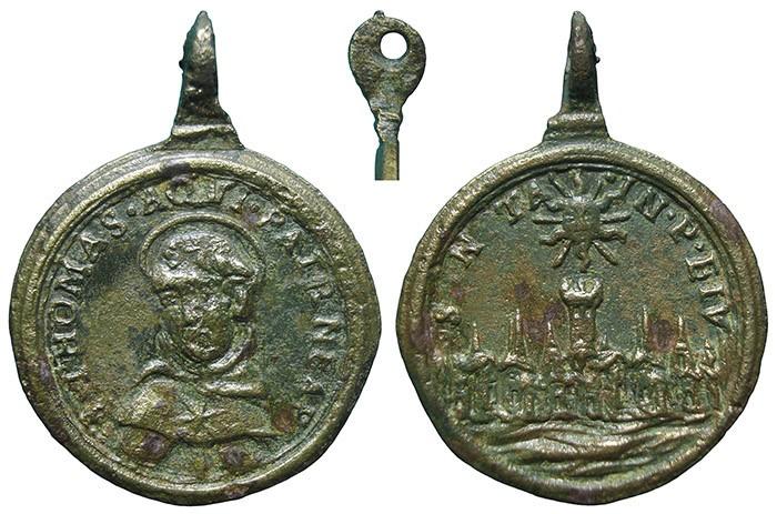 Santo Tomás  de Aquino / Ciudad de Nápoles? - MR718 (R.M. SXVII-C98) Md1wUA