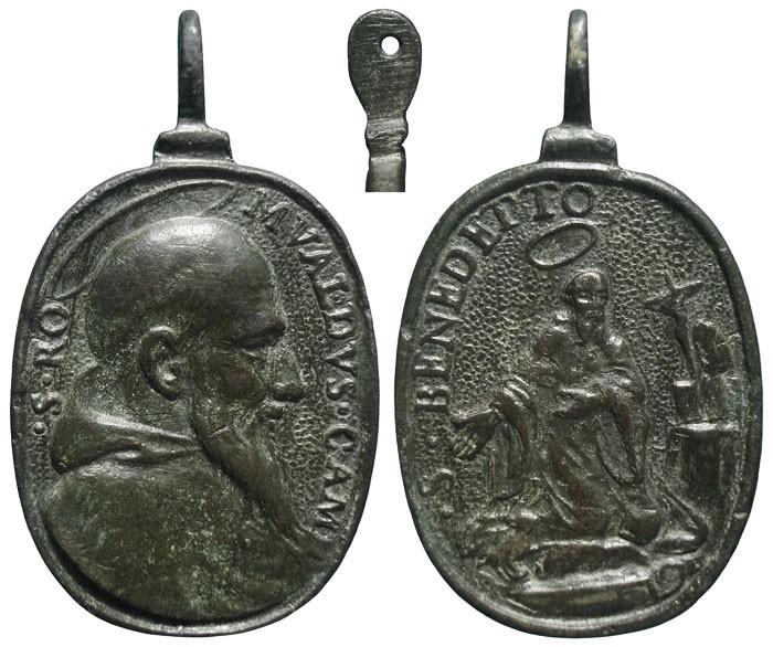 San Romualdo de la Camáldula / San Benito de Nursia - MR710 (R.M. SXVII-O515) QMAoC0