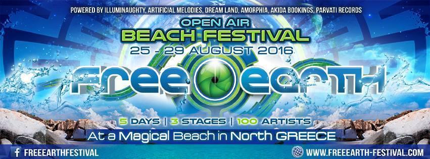 FREE EARTH FESTIVAL   25 - 29 AUGUST 2016  RDMeIJ