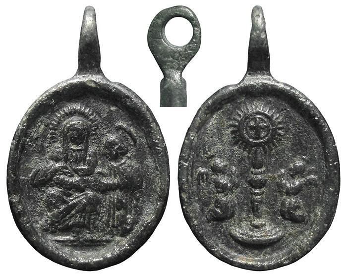 Santa Ana y Virgen Niña / Santísimo Sacramento - MR729 (R.M. Medalla tipo: SXVIII-O445) RQCw8p