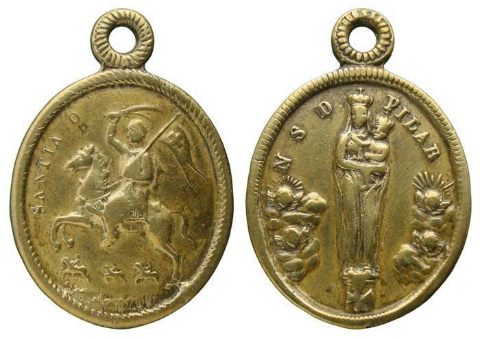 Santiago guerrero / Virgen del Pilar - DI028 (R.M. SXIX-O66) Scfnlq