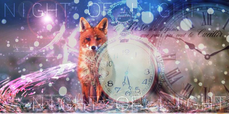 Bannière pour forum RPG avec des renards