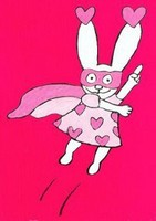 super pink rabbit
