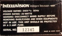 Mattel Intellivision 258-72