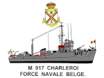 Dessins de profils des navires belges et étrangers 97-75