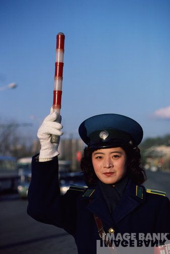 Pyongyang Traffic Woman - Warm Coat