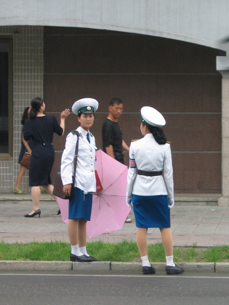 Pyongyang Traffic Woman, Done For The DAy