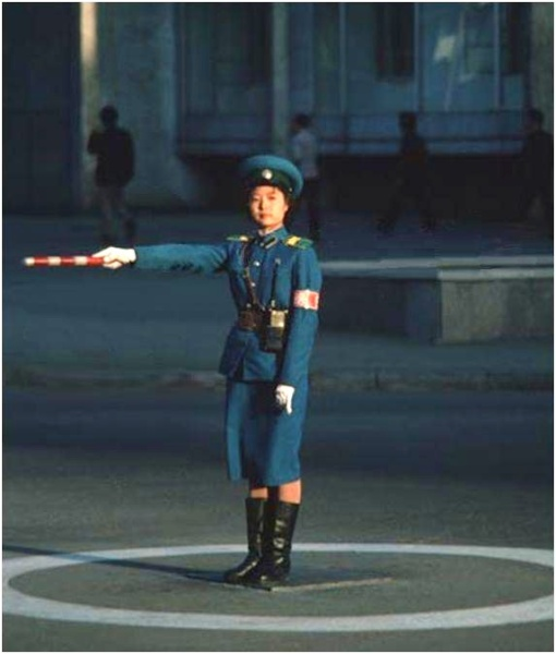 Pyongyang Female Traffic Director circa 1992