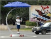 Some traffic intersections have umbrella podiums - new in 2009.