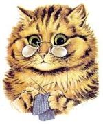 knitting cat