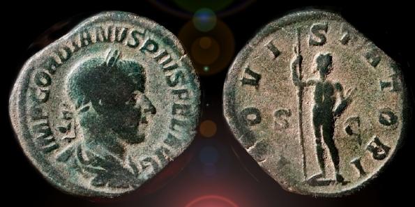 Sestercio de Gordiano III (IOVI STATORI / S C).