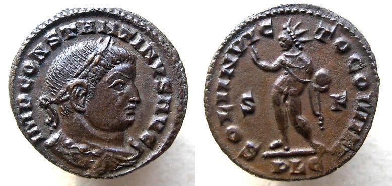 Follis de Constantino I (SOLI INVICTO COMITI).