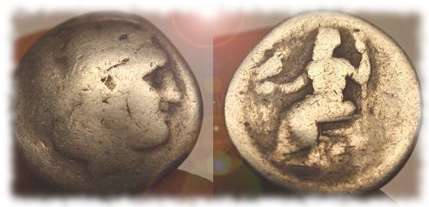 Dracma griego de Alejandro III de Macedonia.