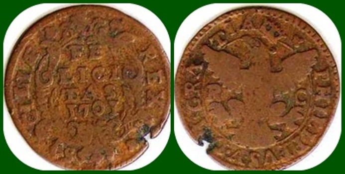 1701 - FHILIPVS V - Un Grano-  Reino Español - ceca de Palermo